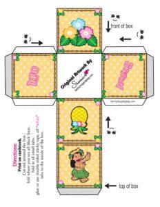Favor Box 2 Lilo and Stitch