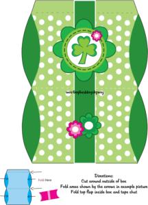 Favor Box 2 St. Patricks Day printable