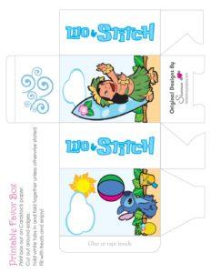 Favor Box 3 Lilo and Stitch