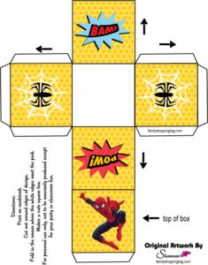 Spider Man Favor Box