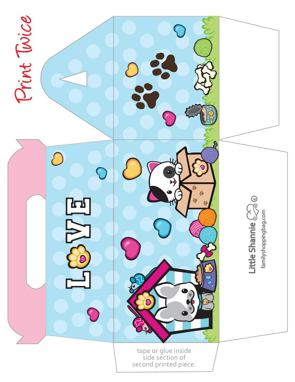 Favor Box Big Valentine Pups and Kittens