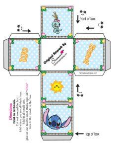 Favor Box Lilo and Stitch