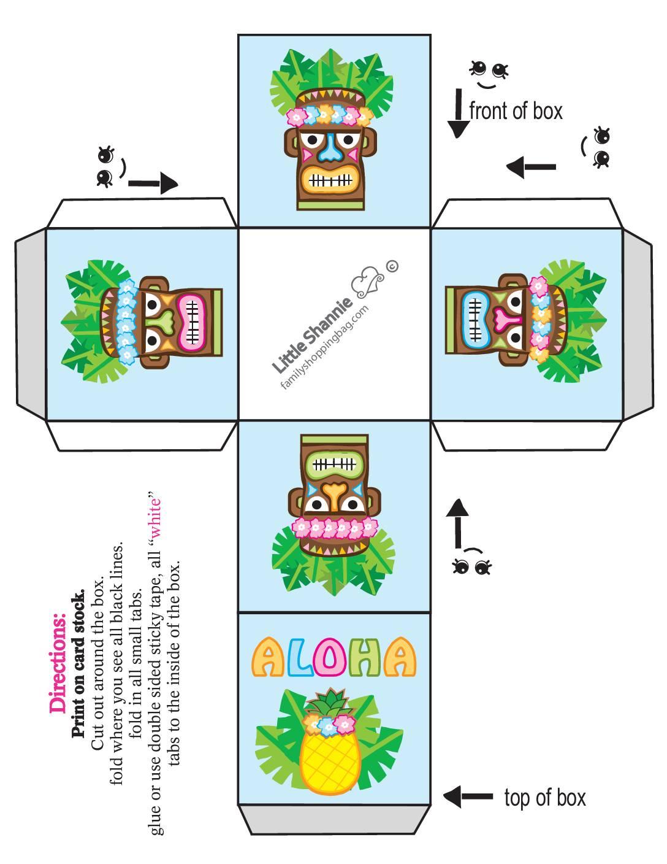Favor Box Small Luau