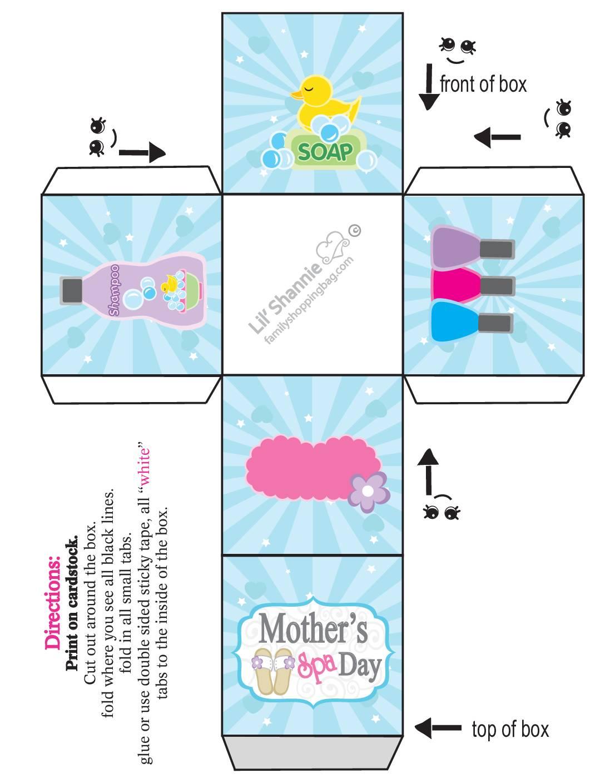 Favor Box Small Moms Spa Day
