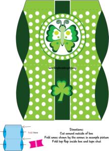 Favor Box St. Patricks Day printable