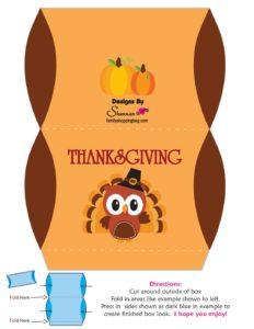 Favor Box Thanksgiving