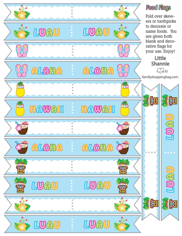 Food Flags Luau