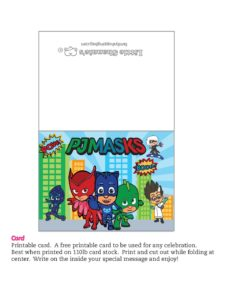 Gift Card PJ Masks