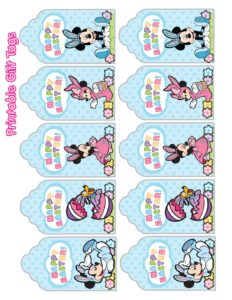 Gift Tag Mickey Mouse Easter