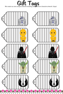 Star Wars Gift Tags