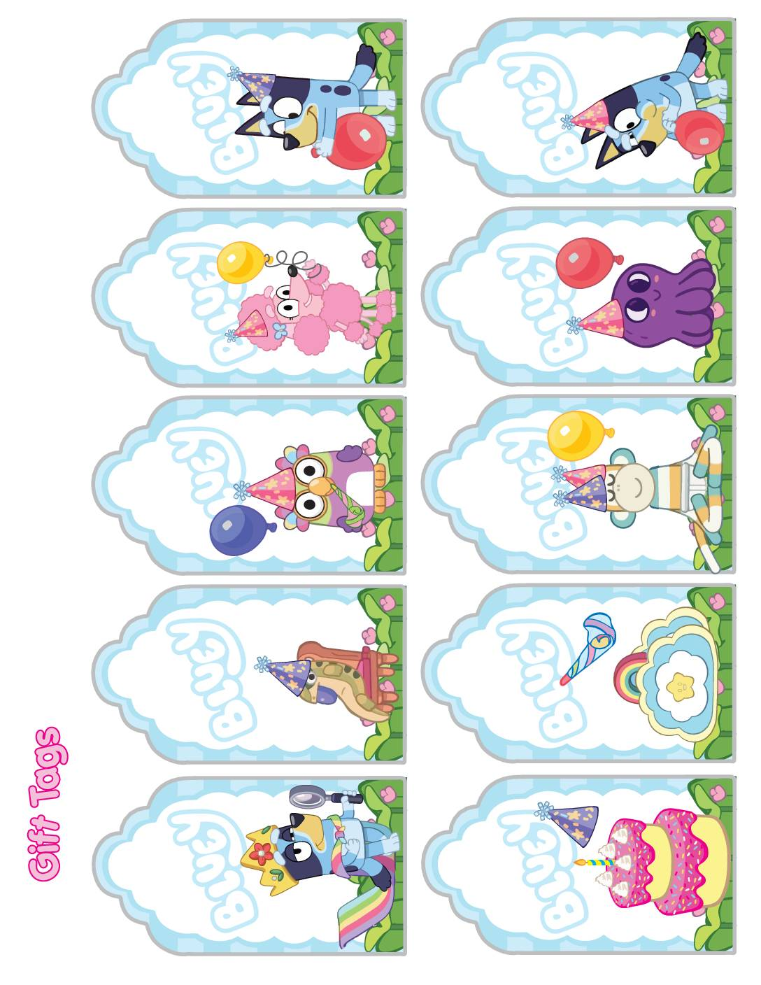 Gift Tags Bluey