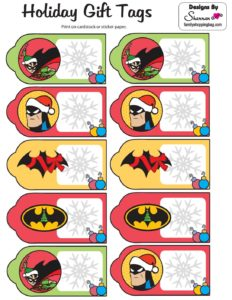 Batman Gift Tags