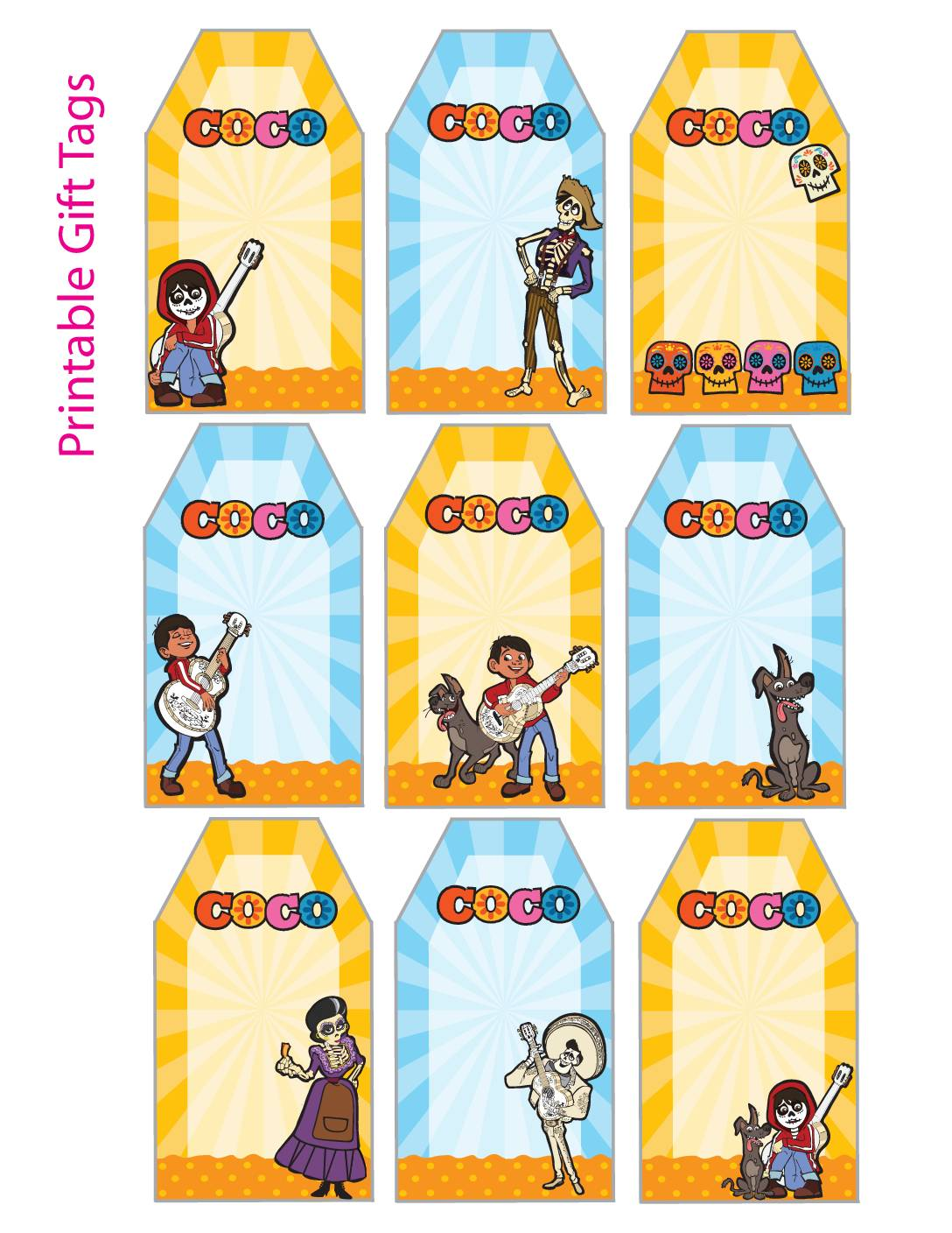 Gift Tags Coco