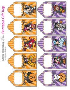 Gift Tags Halloween Mickey