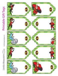 Gift Tags Incredibles