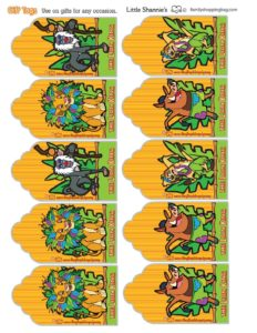 Gift Tags Lion King