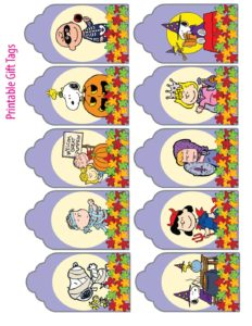 Gift Tags Peanuts Halloween