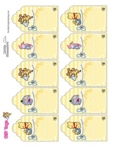 Gift Tags Pooh Baby Shower