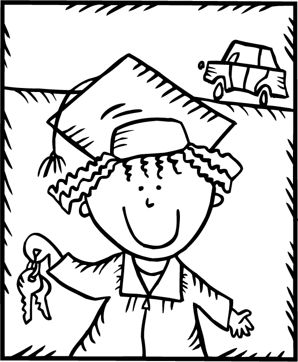 coloring pages for toddlers preschool and kindergarten - Graduation Coloring Pages