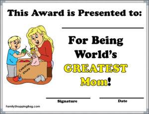 Greatest Mom Award