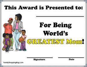 Greatest Mom Award - African