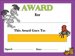 Halloween Award 2
