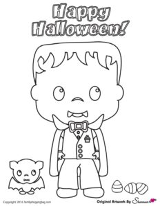Halloween Coloring Page 4