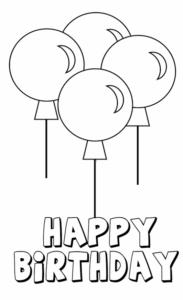 Happy Birthday Balloons Wall decor