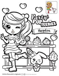 Hayden Coloring Page Party Pop Teenies