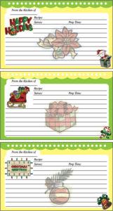 Holidays Recipe Cards
