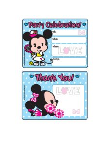 Minnie Party Invitation
