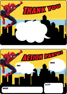 Spider Man Party Invitation
