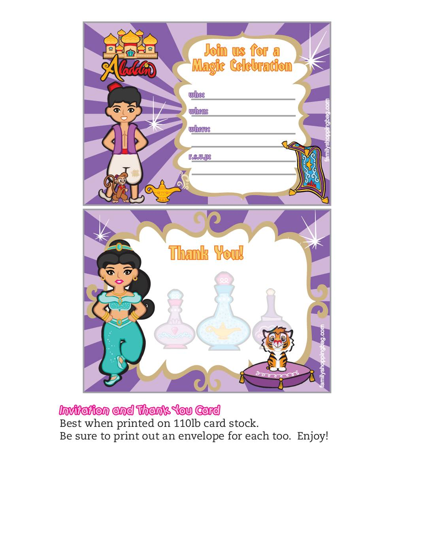 Invitation Aladdin