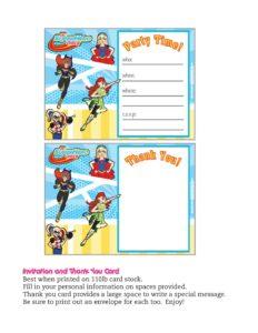 Invitation DC Super Hero Girls