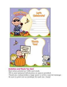 Invitation Peanuts Halloween