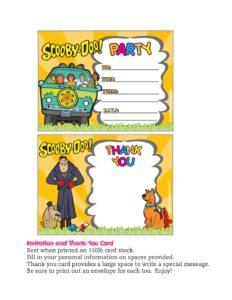 Invitation Scooby Doo