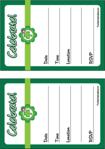 Invitation St. Patricks Day printable