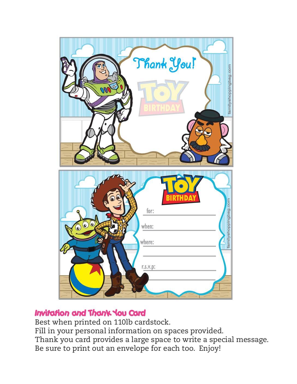Invitations Toy Story