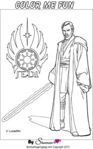 Jedi coloring Page