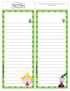 List Paper Ben & Holly