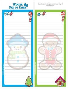List Paper Christmas