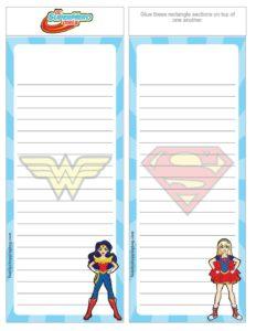 List Paper DC Super Stickers