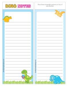 List Paper Dinosaur
