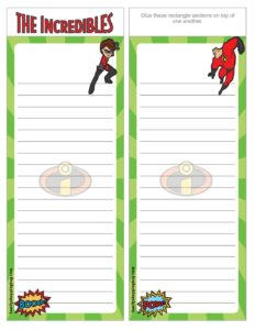 List Paper Incredibles
