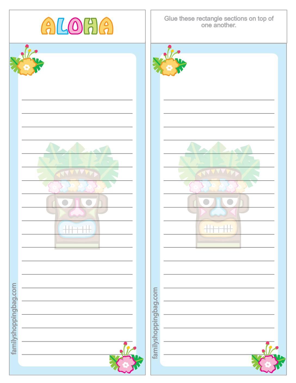 List Paper Luau