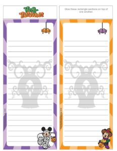 List Paper Mickey Halloween