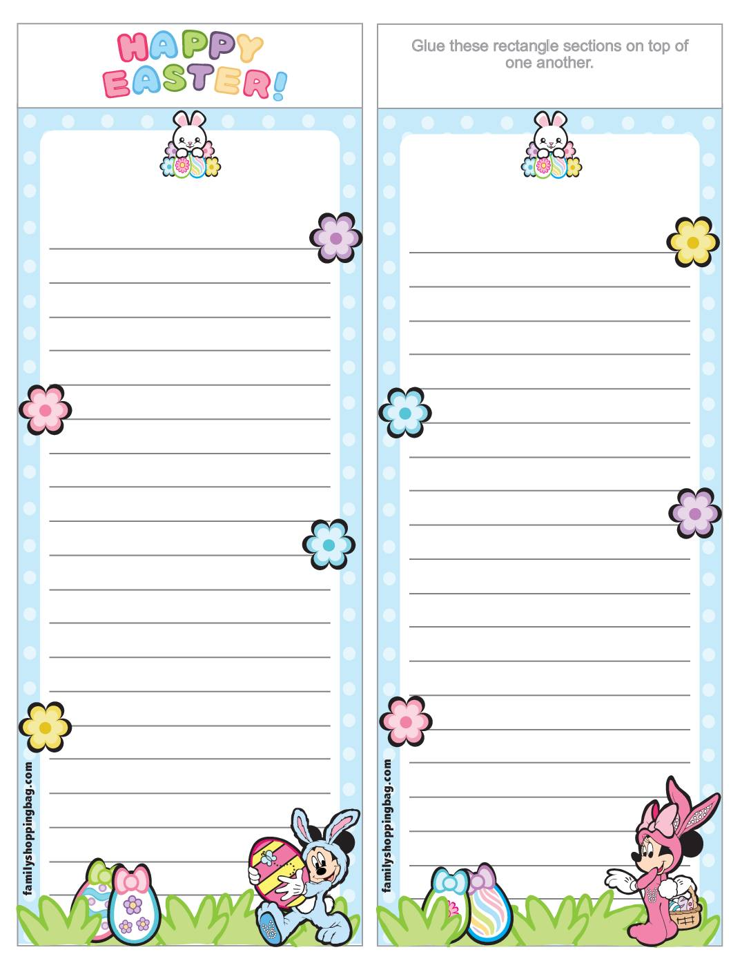 List Paper Mickey Mouse Easter