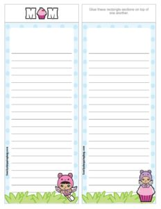 List Paper Mothers Day