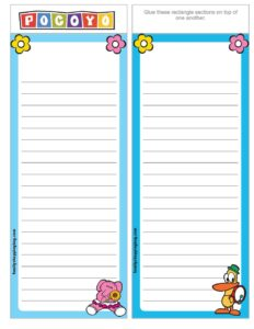 List Paper Pocoyo