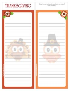 List Paper Thanksgiving